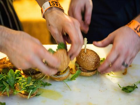 Slider (Mini-Hamburger) bei Feast Portland